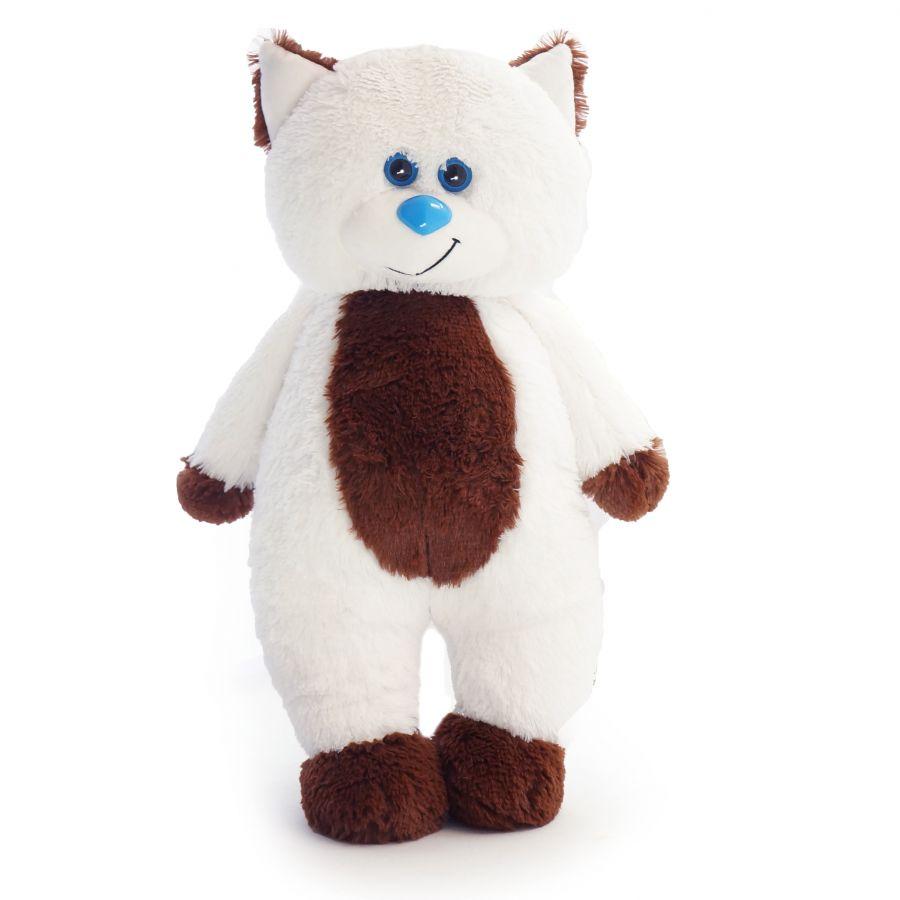 Кот Боря (Д - 65см) Белый с кор.