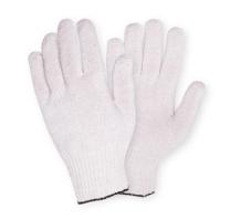 Перчатки трикотажные без ПВХ, 43 гр. белые.