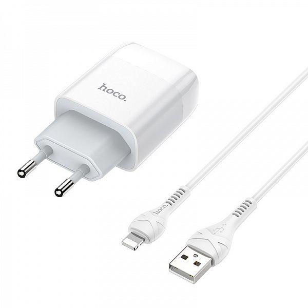Зарядное устройство с USB HOCO C73A iOS Lightning (2400mA,5V)