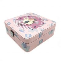 Шкатулка для украшений Пингвин, 18х7х18 см, Цвет Розовый (1)