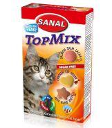 SANAL Витаминный комплекс Top Mix с говядиной, курицей и лососем 240 г