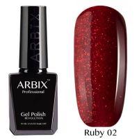 Arbix 002 Ruby Ча-Ча-Ча Гель-Лак , 10 мл