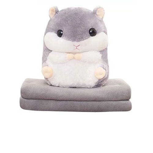 Игрушка-подушка Хомяк 3 в 1 с пледом (одеялом) внутри