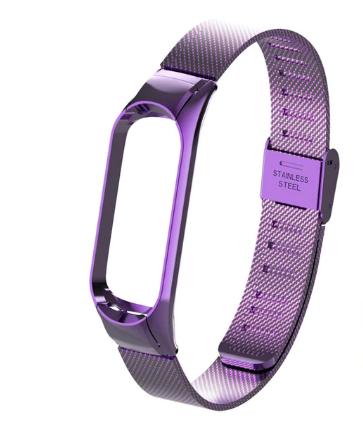 Ремешок металлический для Xiaomi Mi Band 4 ( Фиолетовый )
