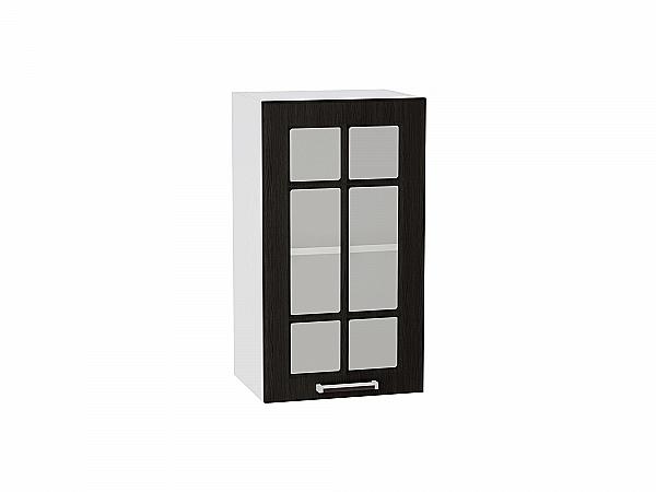 Шкаф верхний Прага В400 со стеклом (Венге Премиум)