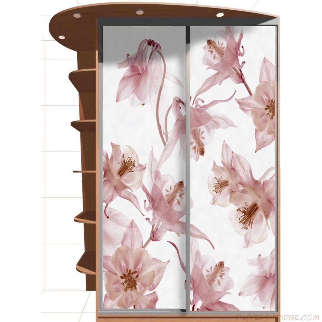 Наклейка на шкаф - Вальс цветов