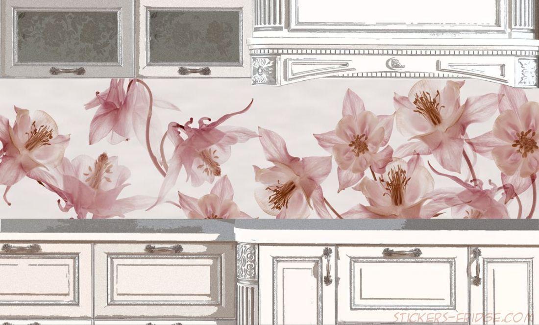 Фартук для кухни - Вальс цветов