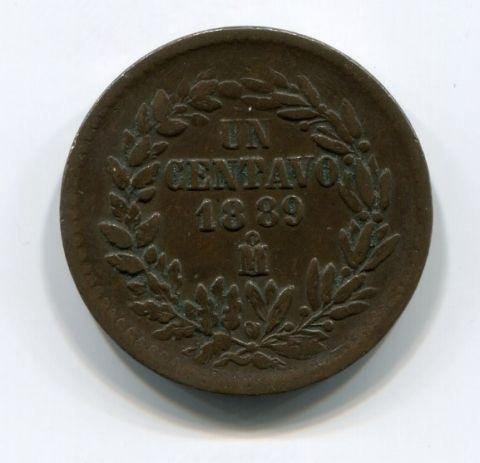 1 сентаво 1889 года Мексика