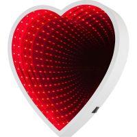 Зеркальный ночник с эффектом бесконечности, форма Сердце (2)