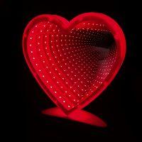 Зеркальный ночник с эффектом бесконечности, форма Сердце (1)