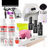 Стартовый набор для покрытия ногтей гель-лаком Kodi с лампой Sun One 48 W, фрезером Lina и стерилизатором для инструментов