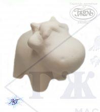 Керамическая заготовка. Бычок Сеня 5,5х6х4,5 см. Бисквит.