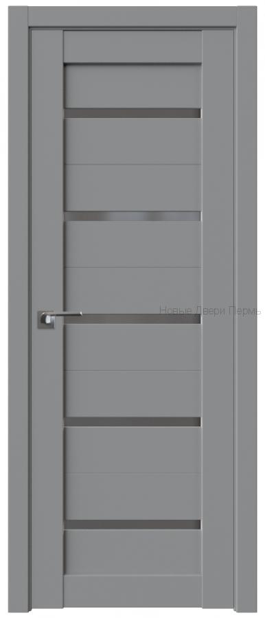 7U Манхэттен стекло Графит - PROFIL DOORS межкомнатные двери