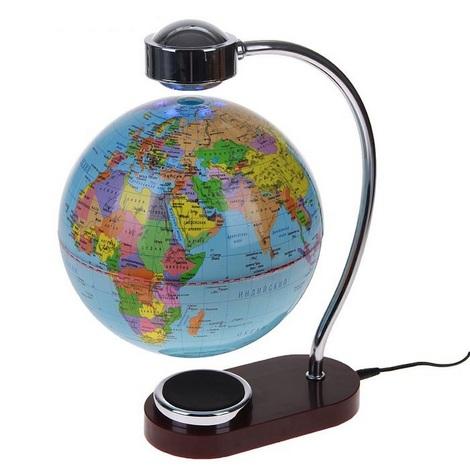 Глобус левитирующий с изогнутой подставкой