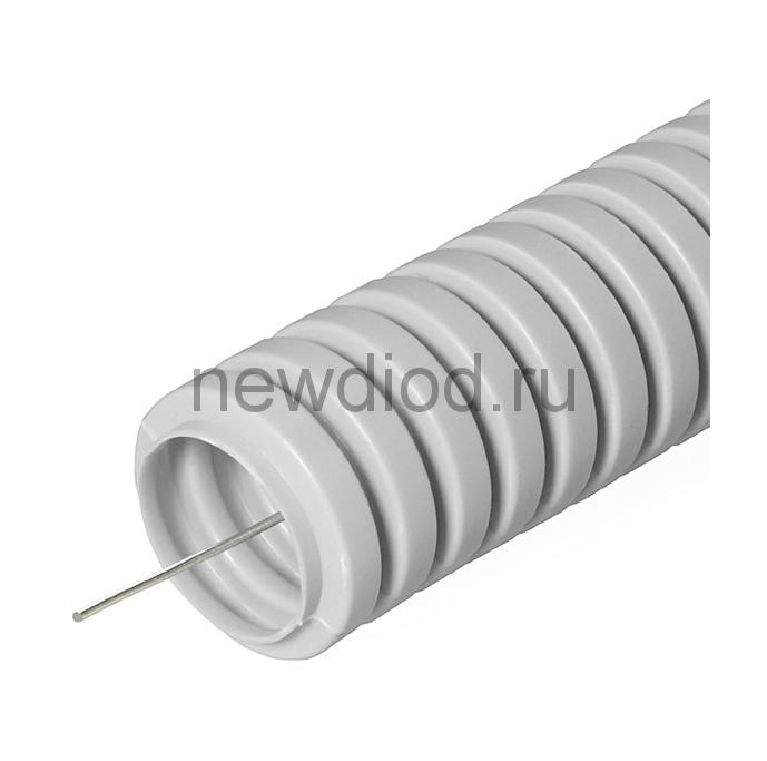 Труба гофрированная ПВХ Строительная серая с/з д16 (100м/5500м уп/пал)