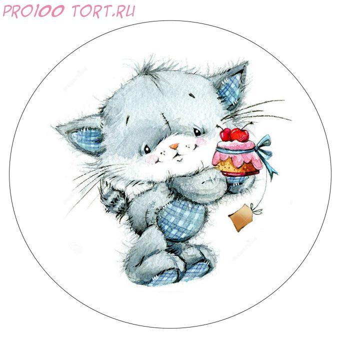 Вафельная картинка на торт Детский праздник №1 (d-14.5см)