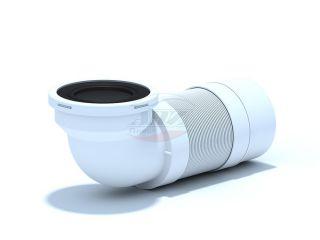 Удлинитель гибкий для унитаза угол 90° выпуск 110мм (250-520мм)