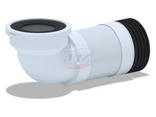 Удлинитель гибкий для унитаза угол 90° (340-870мм)