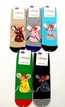 "Люкс носки женские ""Mouse"" 36-42 № 140801"