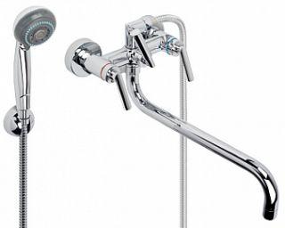 """Смеситель для ванны и умывальника MONTANA, 1/2"""", кер., картриджный, труб. излив 325 мм,"""