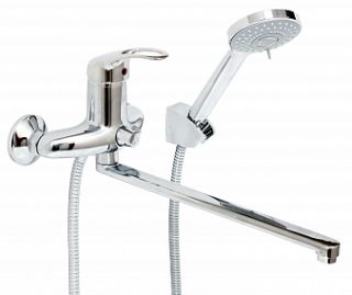 Смеситель для ванны и умывальника LUX JAMAICA, d-40, керамбукса, L-обр. излив 325 мм,