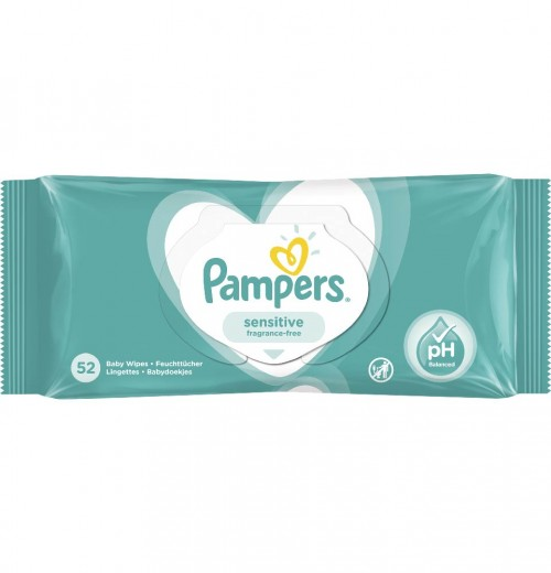 PAMPERS  Sensitive 52 шт