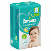 "Pampers ""Active baby-Dry 5"" 16 шт."