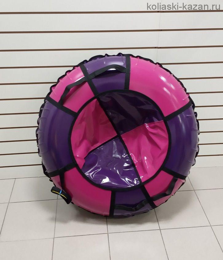 Тюбинги 110 см ПВХ взрослым и детям розово сиреневые (4 ручки)