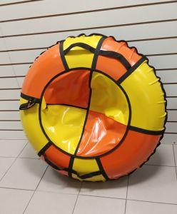 Тюбинги 110 см ПВХ взрослым и детям оранжево желтые (4 ручки)