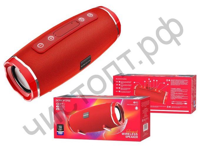 Колонка универс.с радио Borofone BR3 microSD BT 5.0 красный