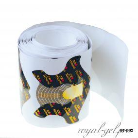Формы для наращивания ногтей HANAMI с выточками 100 шт