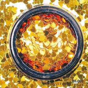 Камифубики Hanami Сердце, золото, 3мм