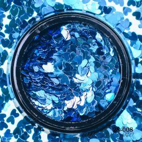 Камифубики Hanami Сердце, голубой, 3мм