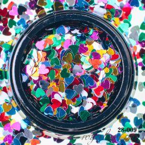 Камифубики Hanami Сердце,цветной микс, 3мм
