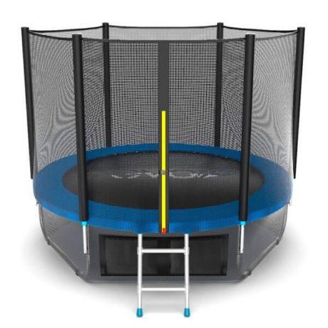 Батут с верхней и нижней сеткой Evo Jump External 8ft Lower net Blue