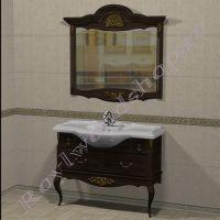 Консоль с зеркалом 105 Прованс темный орех