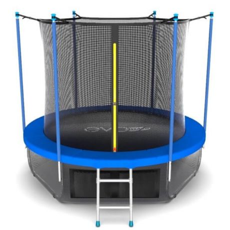Батут с внутренней сеткой и лестницей Evo Jump Internal 10ft Sky