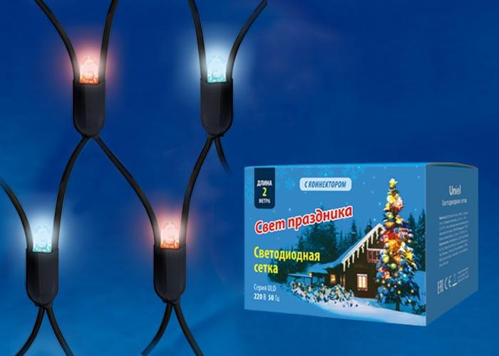 Уличная светодиодная гирлянда (UL-00005486) Uniel сетка 220V красно-синий ULD-N2015-288/SBK Red-Blue IP67