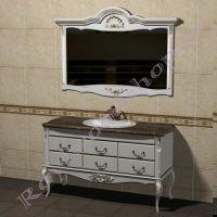 "Тумба с зеркалом  ""Руссильон PROVENCE- 2-150  белая эмаль"