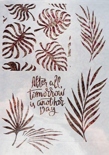 Трафарет для творчества, Завтра будет новый день,  29*21 см