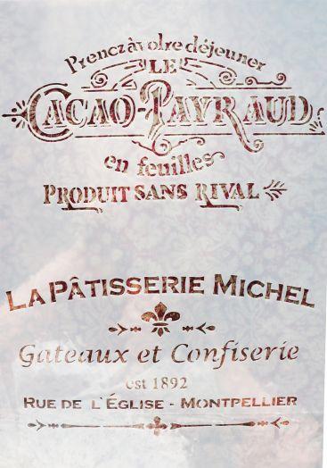 Трафарет для творчества, Cacao payaraud,  29*21 см