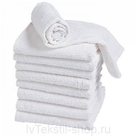 Гладкокрашеное полотенце белое 70х140