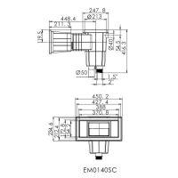 Скиммер Aquaviva EM0140-SС Wide под плитку