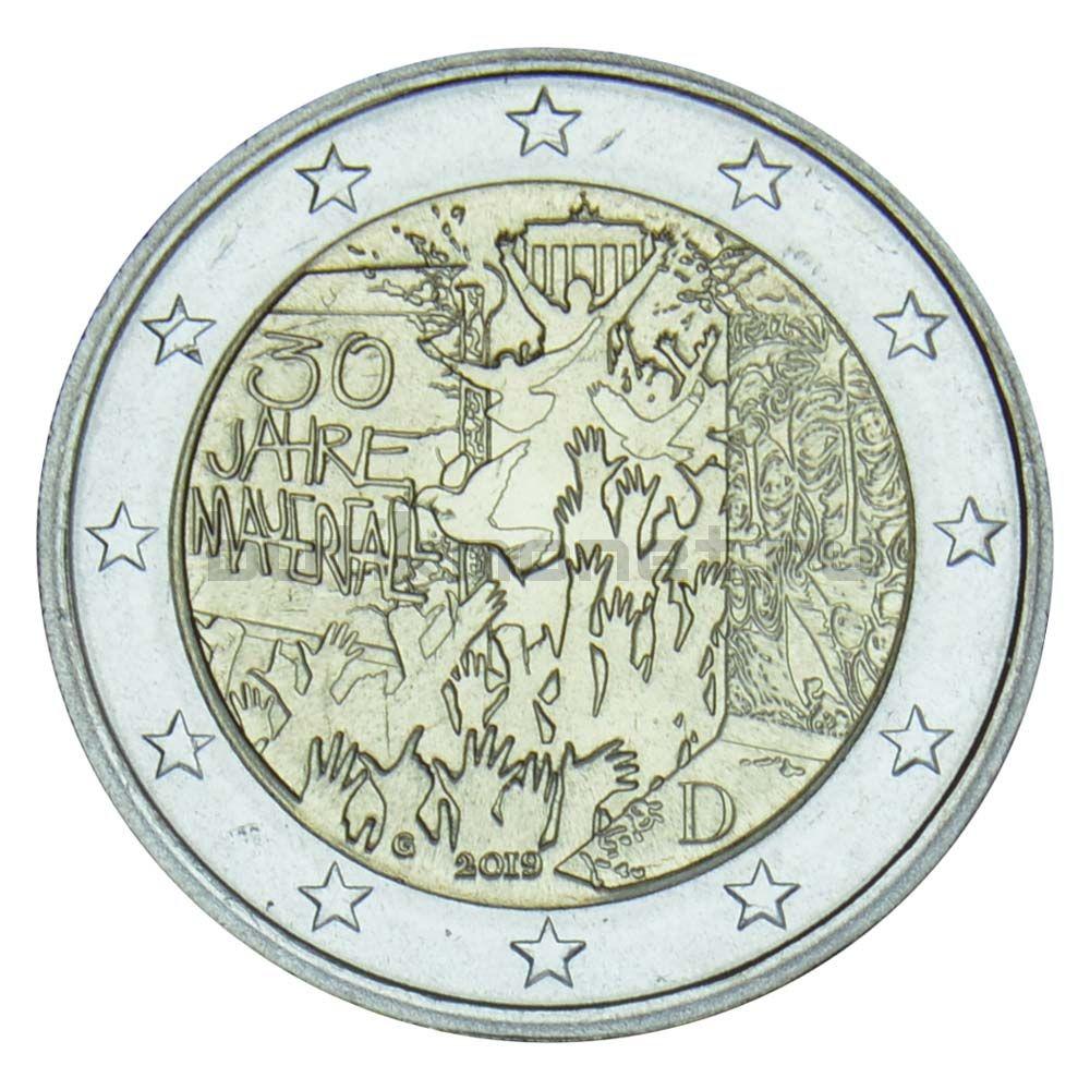 2 евро 2019 Германия Падение Берлинской стены G