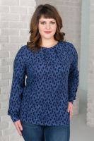Блуза женская арт.0143-50 темный индиго, масло с начесом