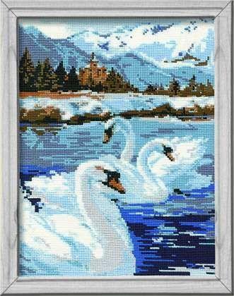 Набор для вышивания крестом Лебеди №662 фирма Риолис