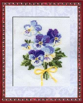 Набор для вышивания крестом Анютины глазки №792 фирма Риолис