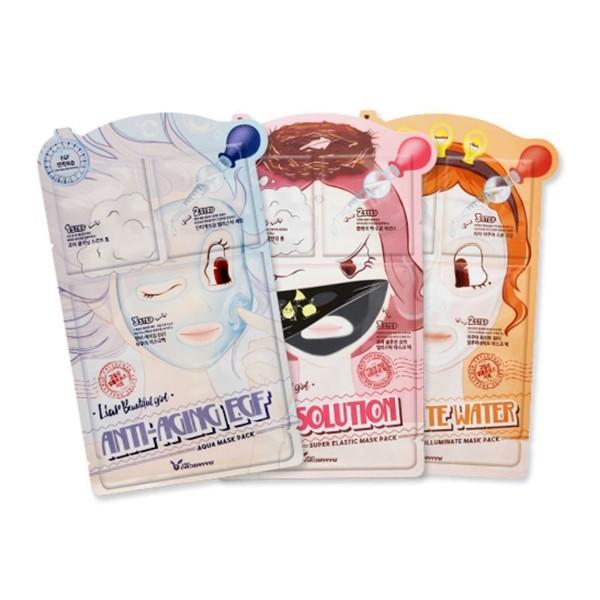 Листовая маска Elizavecca 3-step Mask Pack