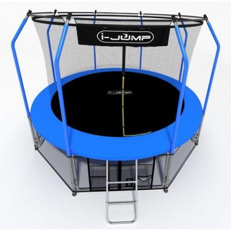 Батут с внутренней сеткой i-Jump Elegant 16ft blue