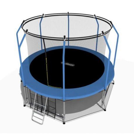 Батут с нижней сетью и лестницей i-Jump 8ft